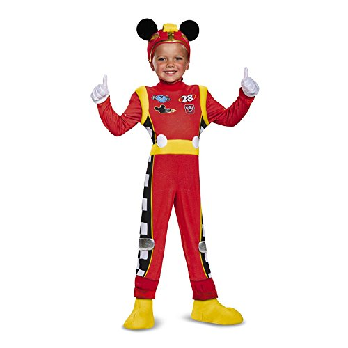 Mickey Roadster Deluxe Toddler Costume, Multicolor, Small (Mickey Mouse Toddler Costumes 2t)