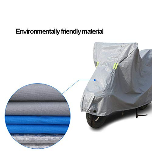 ZZKJTANGYMTT Motorcycle Covers for Outside Storage, Electric Car Cover, Scooter Clothing, Rainproof, Sunscreen, Dustproof, Antifreeze,Blue-180ccm