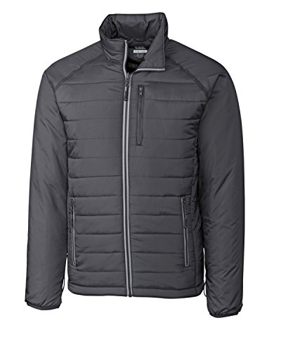 (Cutter & Buck Men's Spark Systems Packable Barlow Pass Quilted Jacket, Elemental Grey,)