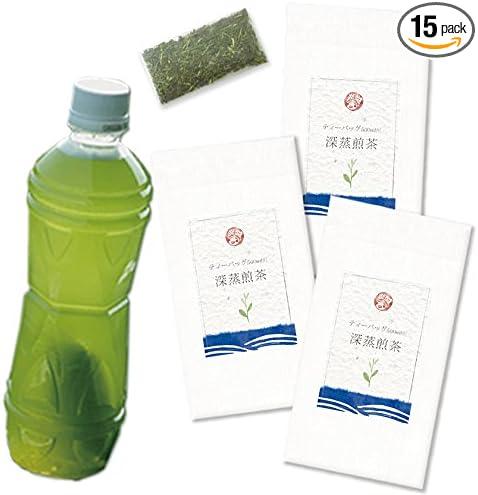 木村園 ペットボトル用 水出し煎茶(掛川深蒸し茶)ティーバッグ 4g*15袋 3本セット