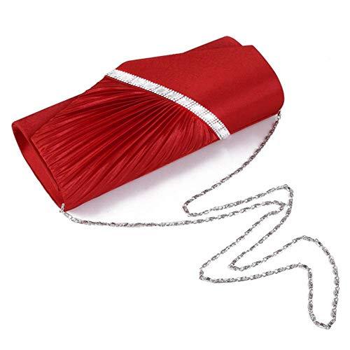 Red Wedding Rhinestone Shoulder Clutch Bag Bridal Crossbody Bag Women's iShine Mini Evening Bag Envelope RtSOnIq