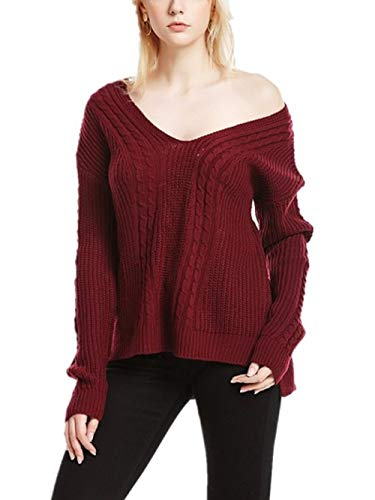 Pulls Large Rouge Femme Yingsssq Pull Sexy Femme color Taille Grande 7Andfpaq