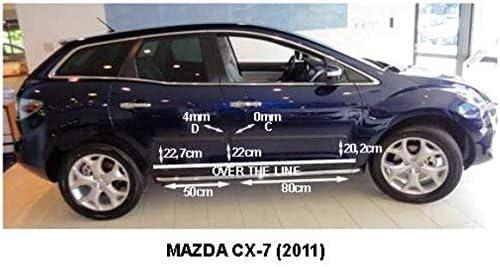 OPPL Zierleiste-Rammschutz Seitenleiste passend f/ür Mazda CX-7 SUV//5 2006-2012