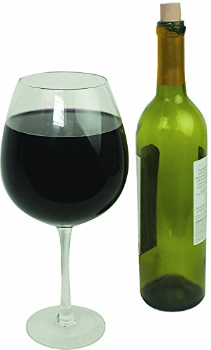 XL Extra Large Premium Jumbo Wine Glass - Holds a Whole Bottle of Wine! Giftable Wine Glasses Glass Woman's Women Gift (Homemade Christmas Costume Ideas Men)