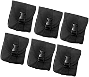 DYNWAVE Pack of 6 Scuba Diving Weight Pocket Pouch for Scuba Divers Underwater Activities - Compact & Port