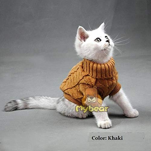 BiBaBoMax Color Warm Autumn Winter Dog Cat Sweater Pet Jumper Cat Clothes for Small Cat Dog Pets -