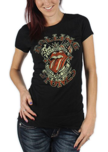 Stone T-shirt Youth (Juniors: The Rolling Stones - Tattoo You Tour Juniors (Slim) T-Shirt Size M)