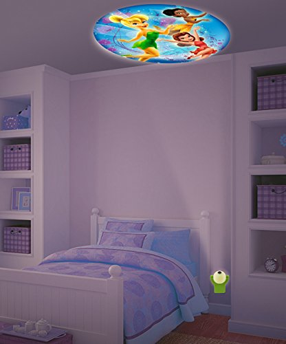 New Set Baby Fall Asleep Fast Crib Bed LED Light Soft Dream Light Fairy Tail Disney Disney Fairies Projectables LED Plugin Night Light - Tinkerbell Iridessa Bedroom Wall Decor (Disney Fairies Tinkerbell Light)