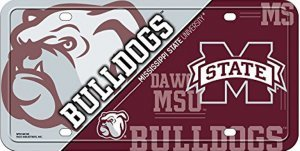 NCAA Mississippi State Bulldogs Metal License Plate -