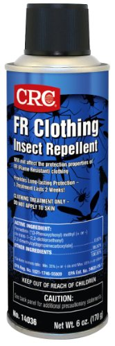 CRC 14036 FR Clothing Insect Repellent, 6 Ounce, Milky White Liquid