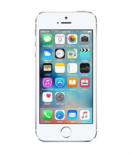 Apple iPhone 5S, AT&T, 16GB - Silver (Renewed)