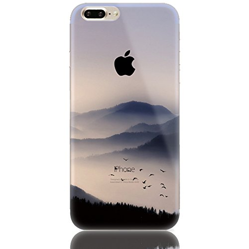 Sunroyal® para iPhone 7 Plus 5.5 Funda Carcasa Case Cover Caja Premium Soft Fusión TPU Gel Elegante Chic y Suave Ultra Delgado Flexible Potectora Pantalla Práctica de Silicona Superior Transparente C B-15