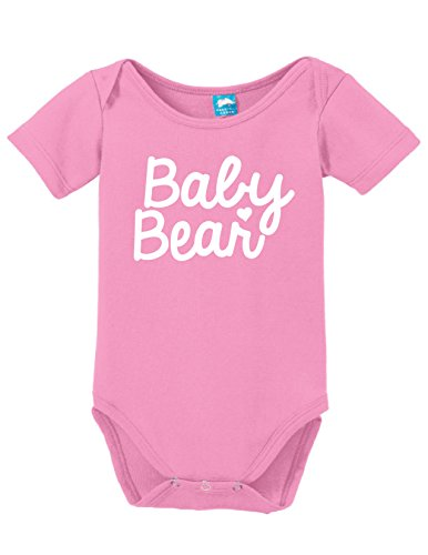Uniform Bear (Baby Bear Printed Infant Bodysuit Baby Romper Pink 3-6)