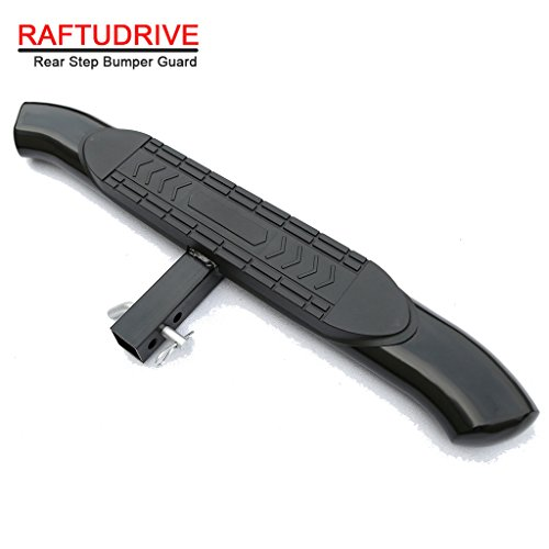 RAFTUDRIVE Black Universal 5″ Curved Hitch Step Rear Step For vehicles with 2″ Receiver