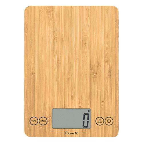 Escali Arti ECO157 Precision Kitchen Scale, Modern Design, Eco-Friendly, Digital LCD Display, 15lb Capacity, Natural Bamboo Finish Eco Friendly Bamboo Kitchen