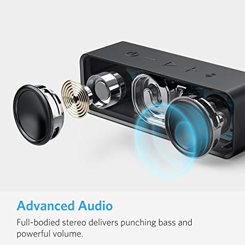 Anker Soundcore Bluetooth Speaker with Loud Stereo Sound, Rich Bass, 24-Hour Playtime, 66 ft Bluetooth Range, Built-in Mic. Perfect Portable Wireless Speaker for iPhone, Samsung and More by Anker (Image #4)