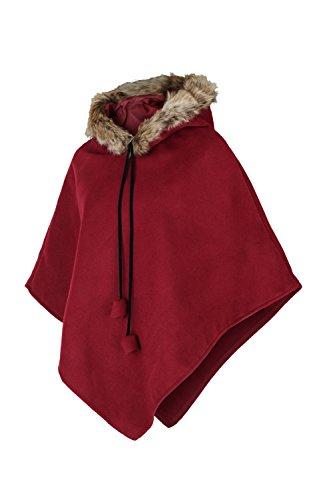 Apparel - Outlet - Poncho - capa - para mujer burdeos