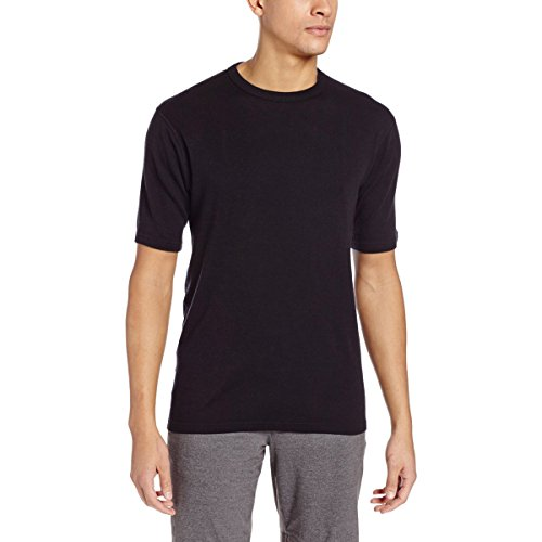 Price comparison product image Minus33 Merino Wool Men's Sentinel Midweight Short Sleeve Crew,  Black,  Medium
