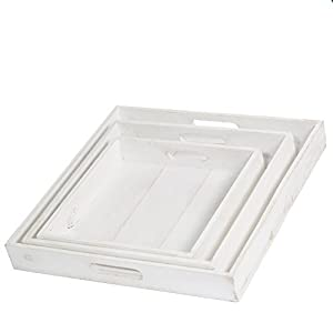Wayhome Fair Richland Square Nesting Trays with Handles Set of 3 - Excellent Home Decor - Indoor & Outdoor 11