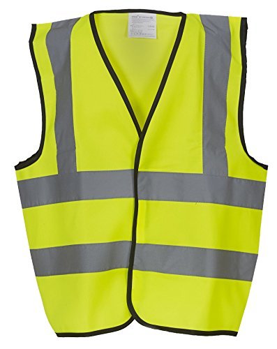 34 Coat Apron (Yoko Kids Hi Vis Waistcoat - Orange or Yellow / Sml-Lge - Yellow - L)