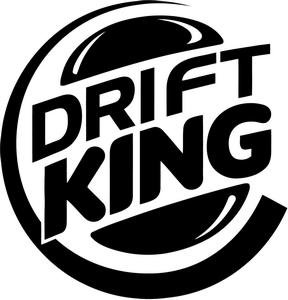 amazoncom drift king premium decal 5quot white burger king