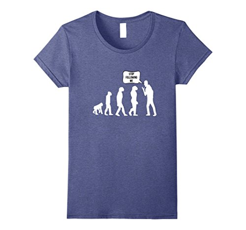 Womens Fun Evolution and Darwin T-Shirt Small Heather - Women Darwin