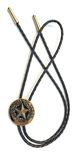 (Texas State Seal Bolo Tie, Round, Goldtone)