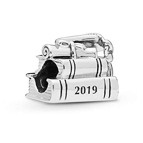 University Charm - Romántico Amor Graduation 2019 Charm Cap Book Scroll Bead fit Pandora Bracelets