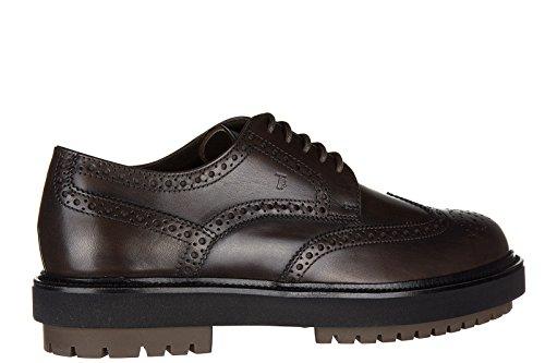 Tod's chaussures à lacets classiques homme en cuir derby bucature extra light ma