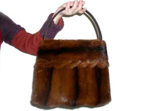FursNewYork Mahogany Brown Full Skin Mink Tote Bag