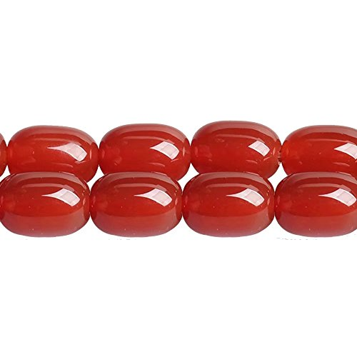 Carnelian Barrel Beads - Natural Red Carnelian Agate Barrel Spacer Connector 1318mm Beads for DIY Necklace Bracelet Earrings Jewelry Making One Strand 15 inch APX 20 Pcs