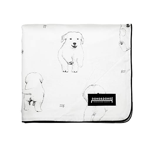 Dono&Dono All Seasons Cotton Cuddle Blanket for Babies and Kids (Bowwow)