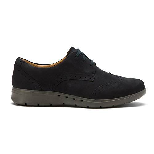 Clarks Womens Un.hinton Oxfords Shoes Navy Goat Nubuck