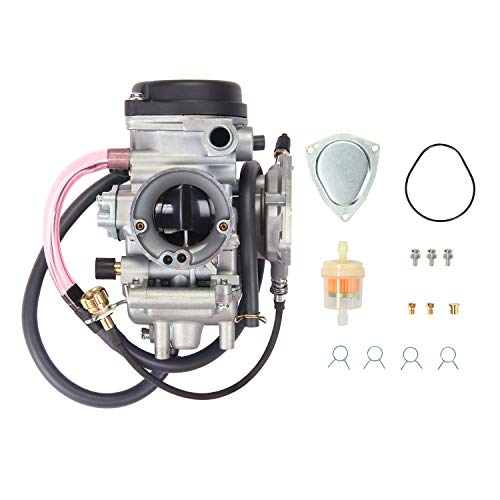 (Carburetor Carb for ATV Yamaha 2000-2006 Kodiak 400 YFM400 & Big Bear 400, 2004-2006 Bruin 350, 2007-2011 Grizzly 350, 2007-2012 Grizzly 450, 2006-2009 Wolverine 350, 2007-2010 Wolverine 450)
