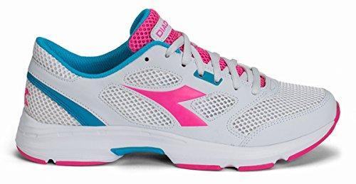 Unisex White Shape para Super Diadora Adulto Zapatos Correr 7 Pink HTTXw4