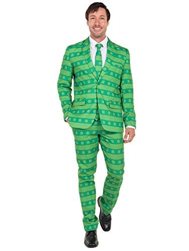 Men's ST. Patrick's Day Suit - Green ST. Paddy's Clover Suit: - Man Is Suit