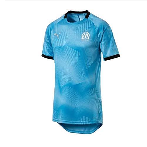 Olympic Puma Soccer logo Sponsor grafica Marsiglia con Maglia blu Jersey FEHwqf5x