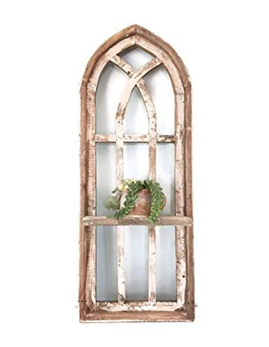 Arch Window, Shelf, Farmhouse window, farmhouse decor cathedral window, shabby chic