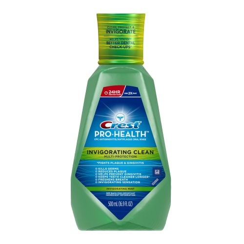 Crest Pro-Health Clinical CPC Antigingivitis/Antiplaque Oral Rinse Deep Clean Mint, Clean Mint ml (Pack of 2).