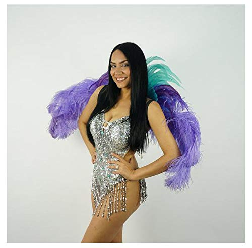 Feather Carnival Costume Samba Backpack - Adult Cosplay/Halloween Costumes for $<!--$91.00-->