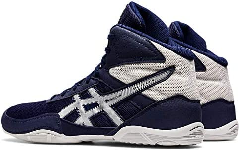 41njZB1z7dL. AC ASICS Men's Matflex 6 Wrestling Shoes    Built to provide you with confidence on the mat, the ASICS unisex MATFLEX 6 wrestling shoe is a must-have for wrestling professionals from all backgrounds. When you're striving to make it to the end of the match and hopefully walk away with the win, you'll need to know that your wrestling shoes will help you go the distance. The great news is that the MATFLEX 6 has been equipped with a California lasting for superior durability. The mesh insole also works to keep you comfortable as you push yourself (and your opponent). It allows fresh air to circulate and refresh the skin, keeping uncomfortable dampness at bay. Furthermore, a EVA sockliner ensconces the foot in unrivalled support, giving you that second wind that you need to gain the upper hand. Comfort, stability and durability. The ASICS unisex MATFLEX 6 wrestling shoe has it all.