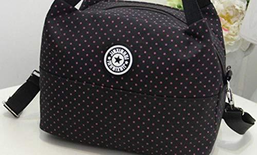 Slung Travail Lunch Box Pour Concise Et noir À L'école Sac Portable Bellecita Le Isolé Isotherme 4f4Bz