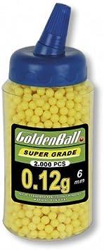 Goldenball Bolsa BB 2000 Bolas 0,12 g Paintball Airsoft Softball Tiro Deportivo y recreativo Camping Outdoor 35011 + Portabotellas de regalo