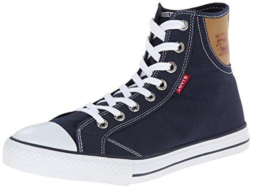Levis Mens Hamilton Buck Fashion Sneaker Navy / Marrone