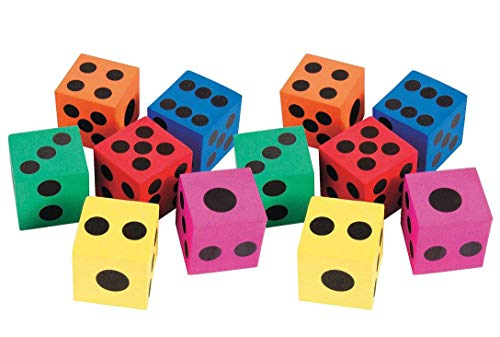 (Big Foam Dices - Pack of 12 - 1.5