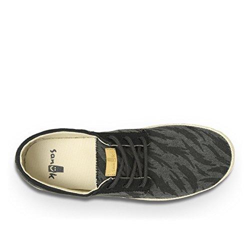 888855402831 - Sanuk Mens Cochise Loafers Shoes Footwear, Black Tigerbolt, Size 09 carousel main 4
