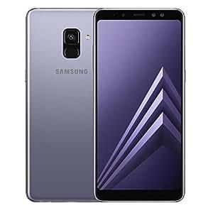 "Samsung Galaxy A8 (2018) Factory Unlocked SM-A530F Dual SIM 32GB 4GB Ram, 5.6"" Screen, 16MP Rear Camera + Dual Frontal Camera 16MP+8MP, IP68, 4G LTE GSM International Version No Warranty (Orchid Gray)"