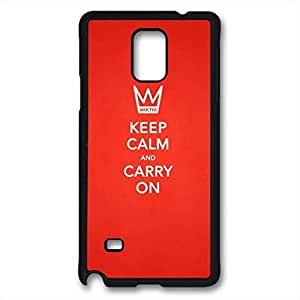 Samsung Galaxy Note 4 Case, iCustomonline Keep Calm and Carry On Designed Case for Samsung Galaxy Note 4 Hard Black