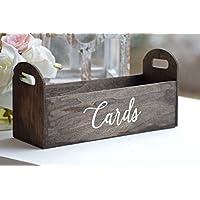 Rustic wedding card box, wood planter reception card holder, graduation party accessory