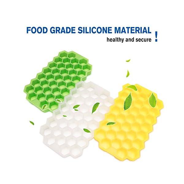 Vaschette per cubetti di ghiaccio con coperchio, 37 cubetti di ghiaccio con coperchio rimovibile, in gel flessibile e… 3 spesavip